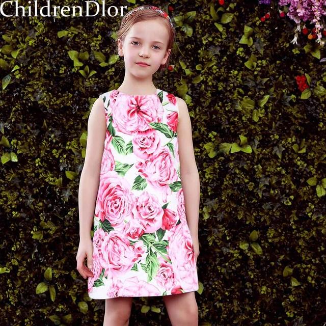 Toddler Flower Girl Dresses 2017 Lolita Style Baby Girls Dress Princess Costume Vestido Menina Kids Clothes for Children 2-10Y