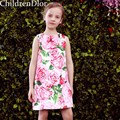 Vestidos de criança da Menina de Flor 2017 Do Bebê Meninas Do Estilo Lolita Vestido de Princesa Traje Vestido De Menina Roupa Dos Miúdos para Crianças 2-10Y