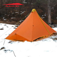 ARICXI Ultra Light 1 Person Camping Tent Outdoor 20D Nylon Both Sides Silicon Coating Rodless Pyramid