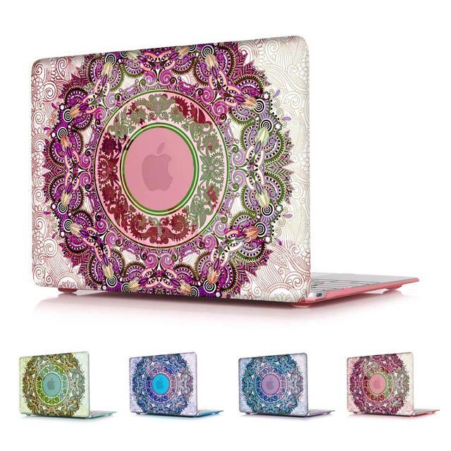 Moda ornamental caja de cristal para apple macbook air 13 11 pro 13 12 15 Retina Laptop Cubierta de Impresión Para Mac Pro 13 15 No Retina