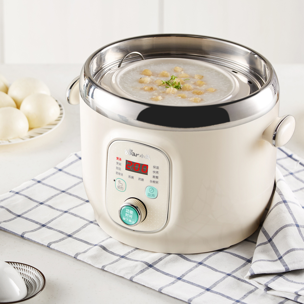 Intelligent Automatic Electric Stewing Pot 220V Multi Cooker With 3 Pots Stew Cooking Machine Porridge Soup EU/AU/UK/US 220v household electric slow stewing pot machine baby porridge food maker automatic ceramic inner stewing cooker eu au uk