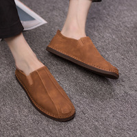 New Suede Leather Men Shoes Brand Fashion Summer Style Soft Men Loafers Comfort Slip On Flats