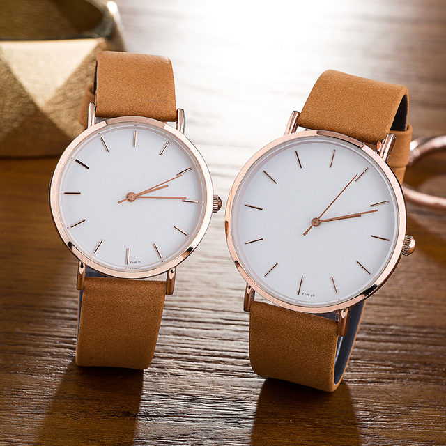 Couple Watch Khaki White For Male And Female 2