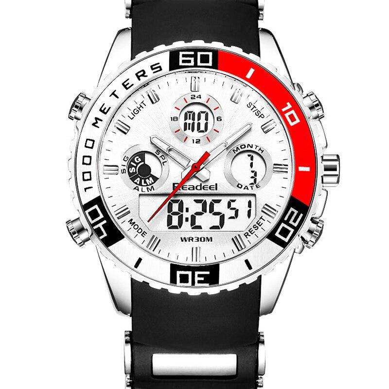 2017 Top Brand Mens Relojes Deportivos Hombres reloj de Cuarzo Analógico LED Reloj Hombre Militar Reloj Impermeable Reloj Deportivo Relogio masculino reloj hombre