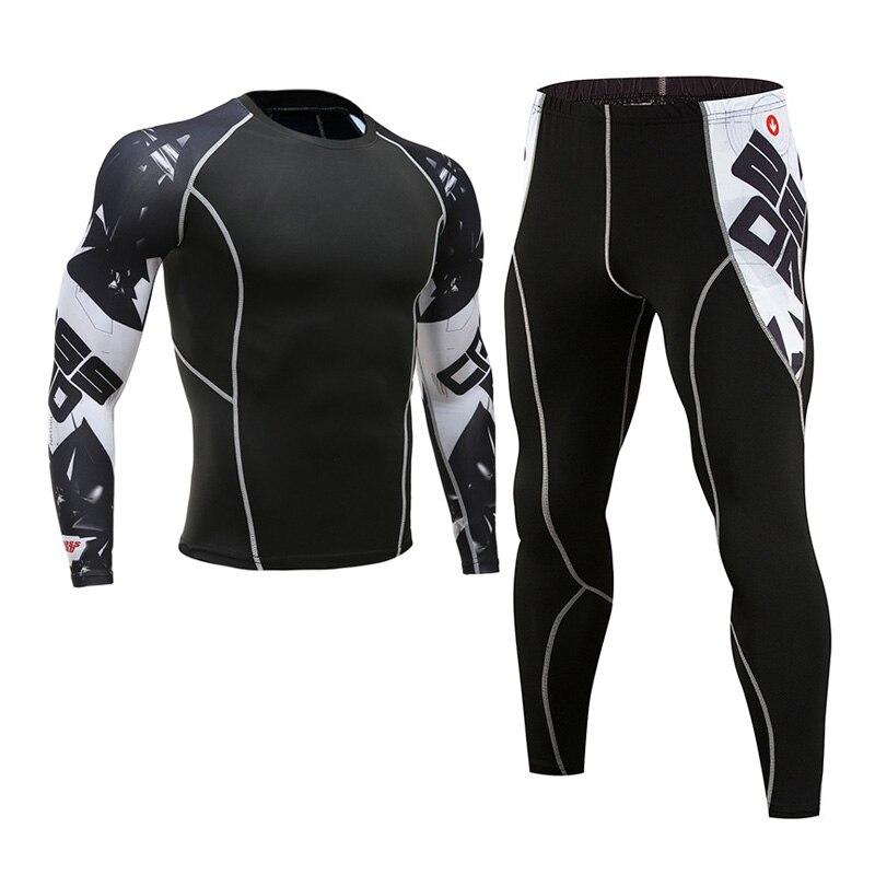 MMA Compression 3D Printed Teen Wolf Long-sleeved T-shirt Tights Brand Men Tracksuit Rashgard Kit Men's Leggings Crossfit Shirts