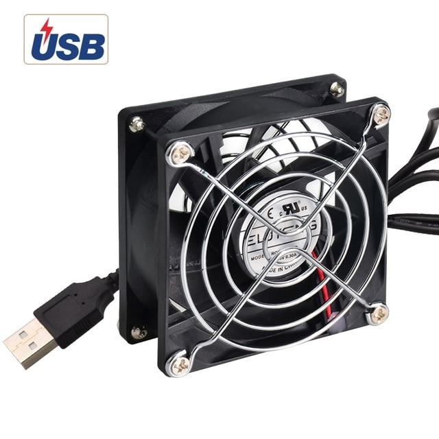 ELUTENG USB Cooling Fan 80mm 5V Powerful Mini Cooler