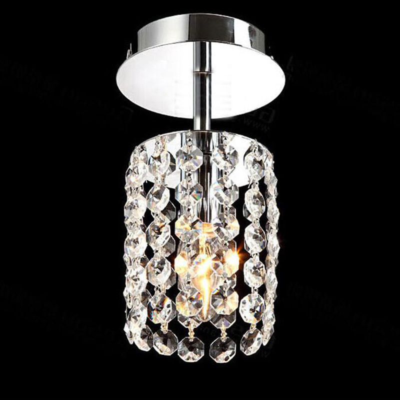 Aisle lights crystal chandeliers modern simple single ceiling lamp balcony lamp hall light LED small porch light led fixture led modern led crystal ceiling light hallway aisle fixture e14 lamp 90 220v