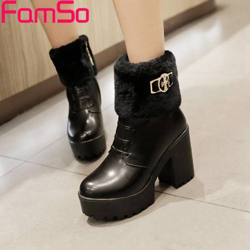 Free shipping 2016 new Fashion font b Women b font boots High Heels platforms Pumps Winter