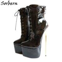 Sorbern/пикантные туфли лодочки на очень высоком каблуке 22 см/8,7 дюйма; женская обувь на каблуке 2018; туфли на шпильке; большие размеры; Bdsm вечерни