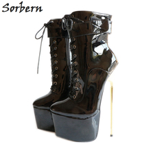Sorbern Sexy 22Cm/8.7 Fetish Extreme High Heels Pumps Womens Shoes Heels 2018 Stiletto Plus Size Bdsm Party Club Runway Shoes sorbern gold sequins evening party shoes night club glitter women pumps stilettos sexy dance shoes high heels custom colors