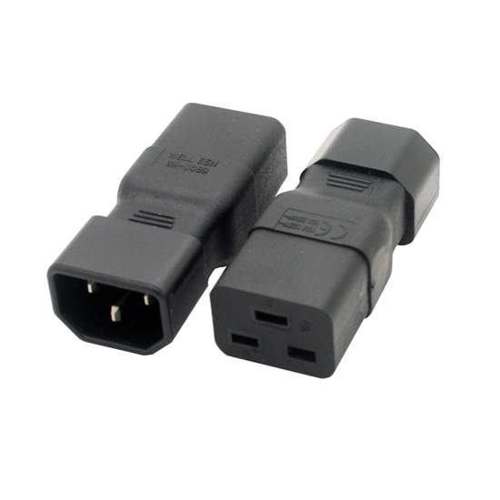 IEC 320 C14 to C19 power adapter C19 to C14 power adapter for PDU cord adapter Cant tuscl.net that is open due to online censorship in your nation or  other internet policies that are filtering?