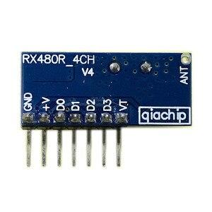 Image 3 - 20 Pcs 433Mhz Drahtlose Fernbedienung Schalter 4CH RF Relais EV1527 Encoding Lernen Modul Für Licht Relais Empfänger