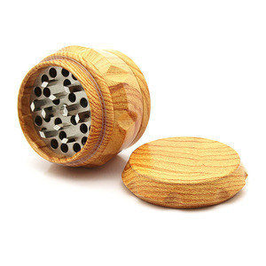 Image 5 - New Arrival Wood Grinder 63 MM 3 Layers Herb Grinder Aluminum Sharp Diamond Teeth Tobacco Grinder Herbal Weed Grinder Gifts