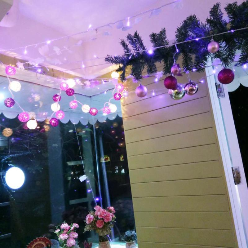 2m 20 Leds Colored Cotton String Lights