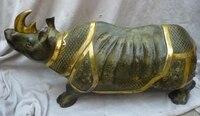 """R0720 Szczegóły o 10 """"Chiński Spiżowy Gild? czna rzeźbione eximous realistyczne rhinoceros Ox Statua w Posągi i rzeźby od Dom i ogród na"""