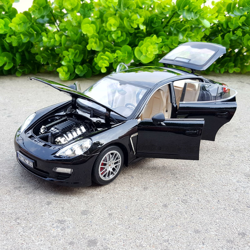 1:18 modèle de voiture de sport en alliage de Simulation pour Panamera avec commande au volant jouet de volant avant pour enfants