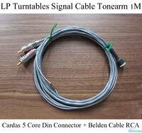 Iwistao LP Поворотные столы сигнальный кабель Cardas 5 основных DIN разъем + кабеля belden тонарм Phono amp 1 м HiFi аудио DIY Бесплатная доставка