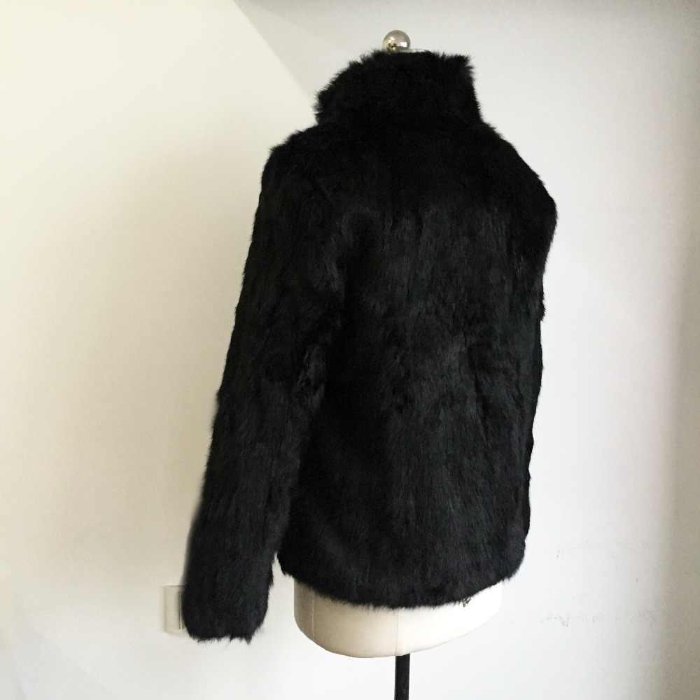 2019 新ホット販売トップ品質では本質 100% ナチュラルフル毛皮のコートマンダリン襟ソフト毛皮ジャケット SR150