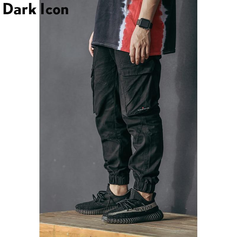 DARKICON Side Pockets Cargo Pants Men Camouflage Mens Cargo Pants Twill Material Harem Pants Men Cotton Trousers