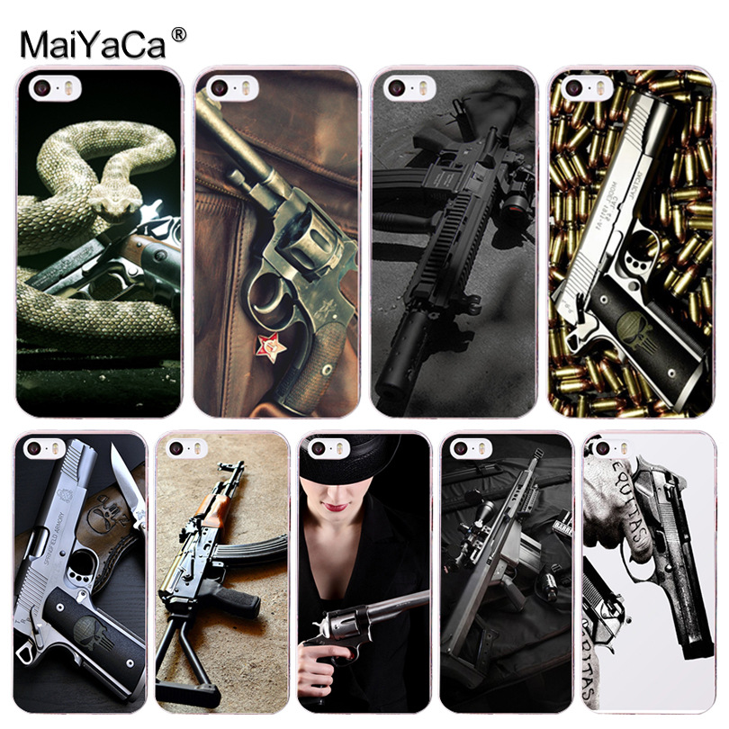 Half-wrapped Case Able Maiyaca Loose Gold Bullets Gun Bullet Coque Shell Phone Case For Apple Iphone 8 7 6 6s Plus X 5 5s Se 5c Xs Xr