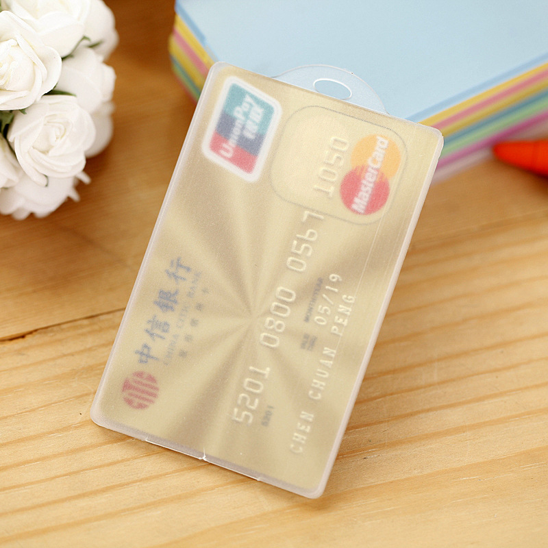 DL Pure Color Transparent IC Card Set Bus PVC Card Set Taobao Gift Small Gift Manufacturer Direct Bank Card Set  Equipment