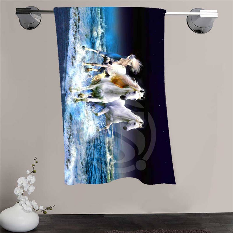 New Custom horse Shower Towel Big Size 140x70cm Cotton Bath Towel For your family FQI905 %ws89