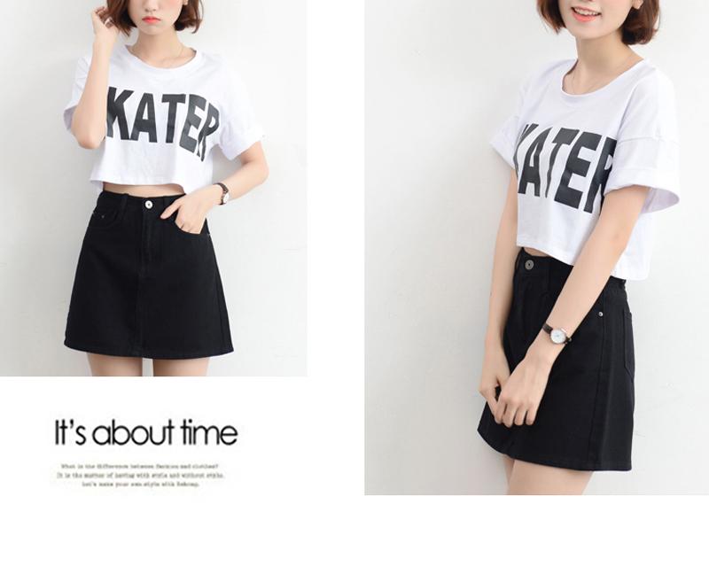 Lucyever Fashion Korean Summer Women Denim Skirt High Waist Black Mini Skirts Package Hip Blue Jeans Harajuku Plus Size Cotton 27