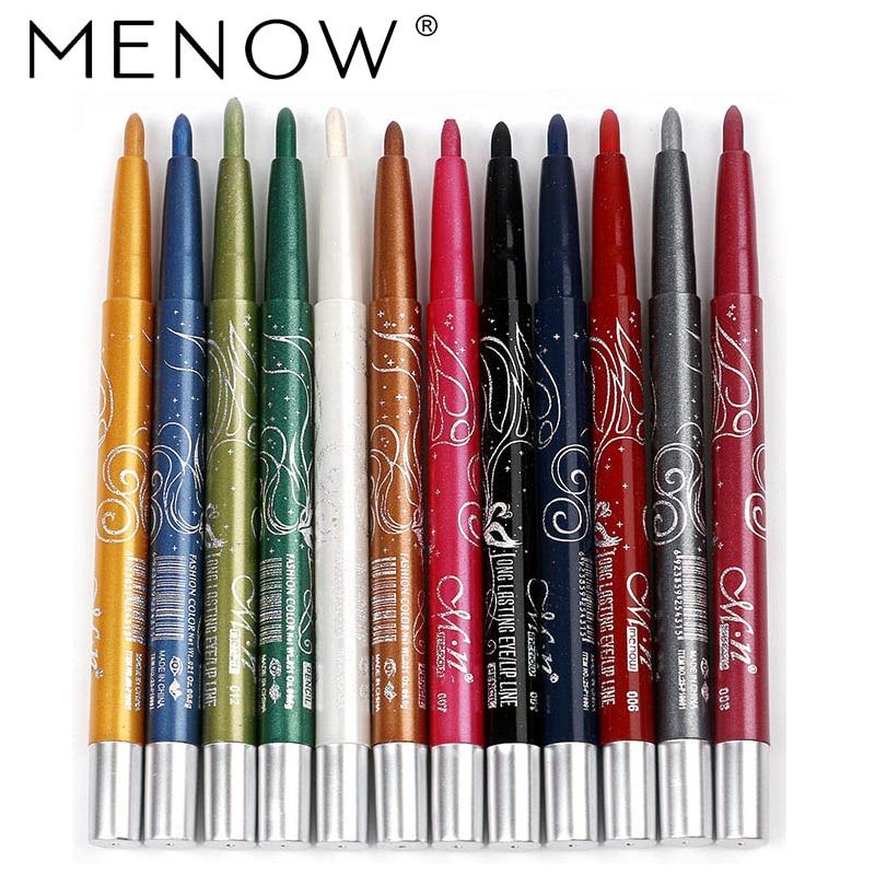 MENOW 12Colours Glitter Eyeshadow Eyeliner Pencil Automated Rotating Make-up Pen Shimmer Eye Magnificence Eye Shadow & Liner Mixture Eye Shadow & Liner Mixture, Low cost Eye Shadow & Liner...