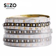 1m/2m/5m WS2812B פיקסל Led רצועת קלטת 30/60/100/144 נוריות/m RGB טלוויזיה אור מיעון בנפרד שחור/לבן WS2812ECO IC DC5V