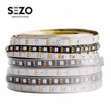1m/2m/5m WS2812B Pixel Led Strip Tape 30/60/100/144 leds/m RGB TV Light Individually Addressable Black/White WS2812ECO IC DC5V