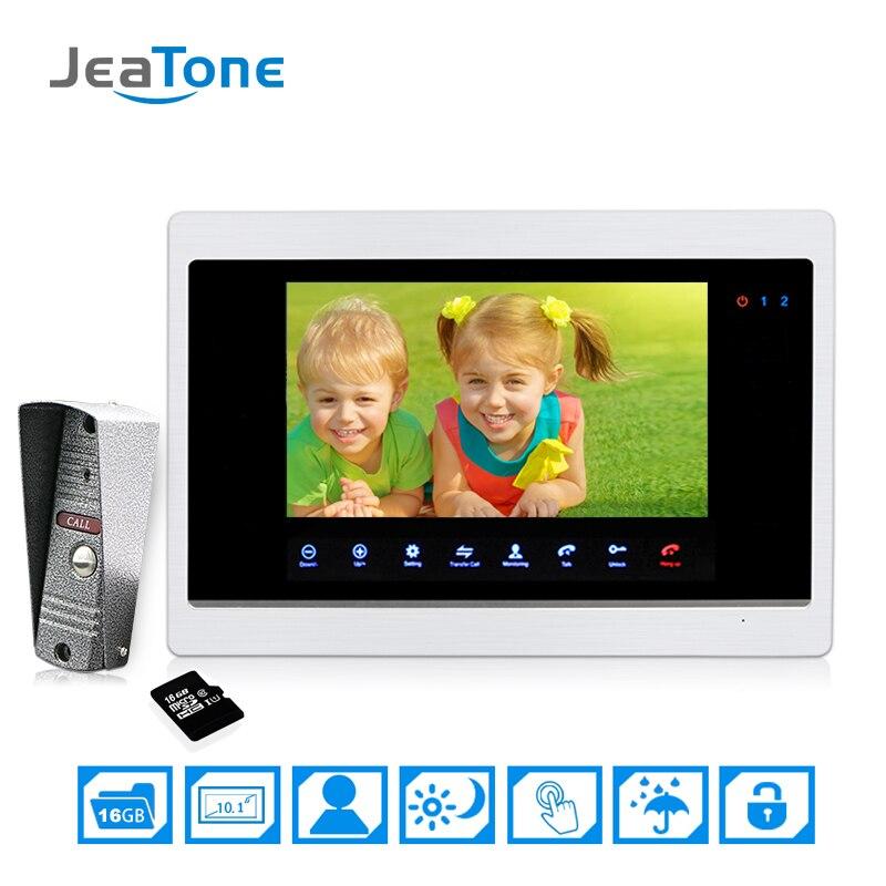 US $162.25 45% OFF 10\'\'big Screen Door Phone Intercom Home Apartment  Security Video Intercom doorbell video IR Night Vision Included 16G SD  Card-in ...