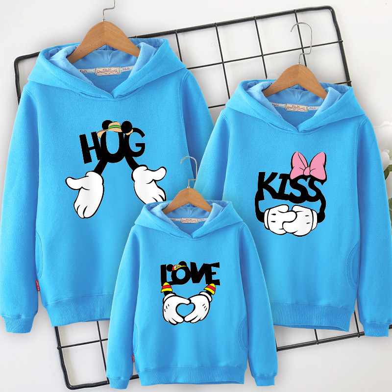 Image 3 - Family clothes family matching Hooded sweater 2019 spring  new mother daughter dresses  father and son mom and girl clothing-in Matching Family Outfits from Mother & Kids