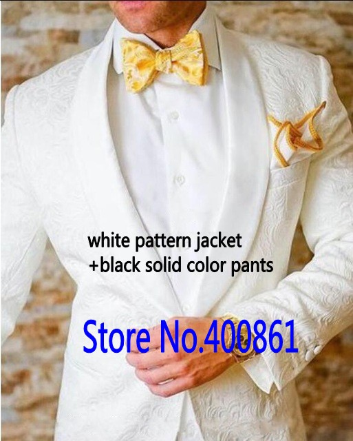 Recently Design Mens Suits Groom Tuxedos Groomsmen Wedding Party Dinner Best Man Suits Blazer (Jacket+Pants+Free Bow Tie) K:2068