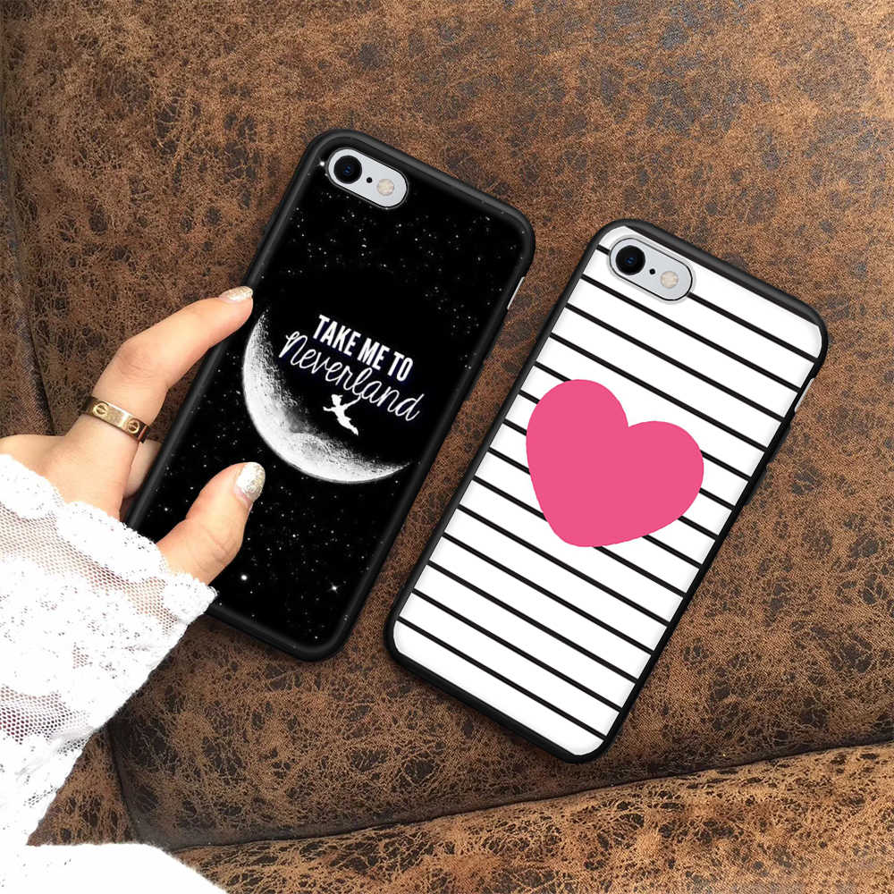 Moon Heart Phone Case For iPhone 6S 6 8 7 Plus X XS Max XR 5 5S SE Soft Patterned Back Cover For iPhone 7 8 TPU Protective Coque