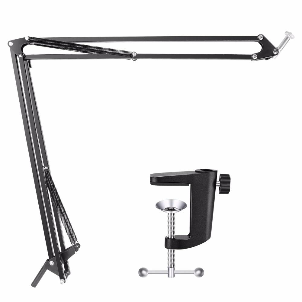 Soporte de brazo de escritorio ajustable Neewer con montaje de cámara para cámara web