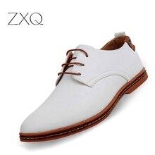 Venta caliente New oxford zapatos Casuales Hombres de Moda Los Hombres Zapatos de Cuero Del Otoño Del Resorte Hombres Hombres Zapatos de Charol Plana WGL-K03-1