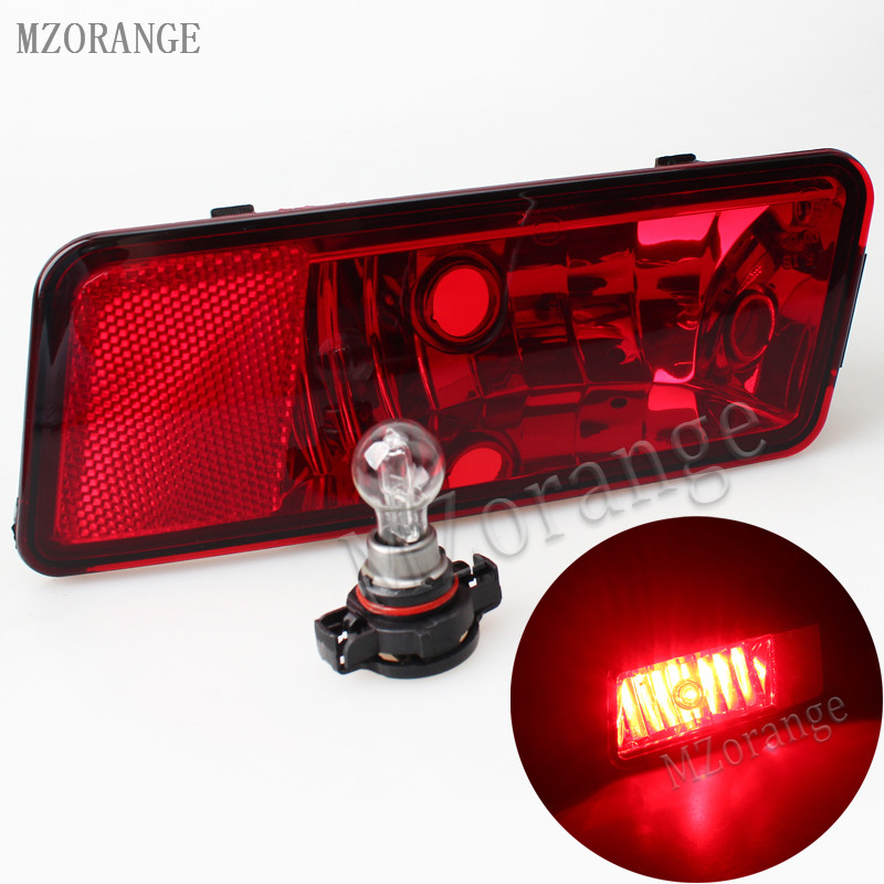 MZORANGE 1Pcs Left / Right Side Car Rear Tail Bumper Reflector Lamp Fog Light With Bulb For DODGE JOURNEY 2009-2010 rear bumper light fog lamp for mazda cx 5 left and right top quality