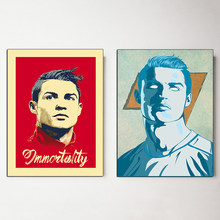 Cristiano Ronaldo Vintage Poster CR7 Canvas Painting Soccer POP HD Print Decorative Wall Art Picture for Living Room Home Decor(China)