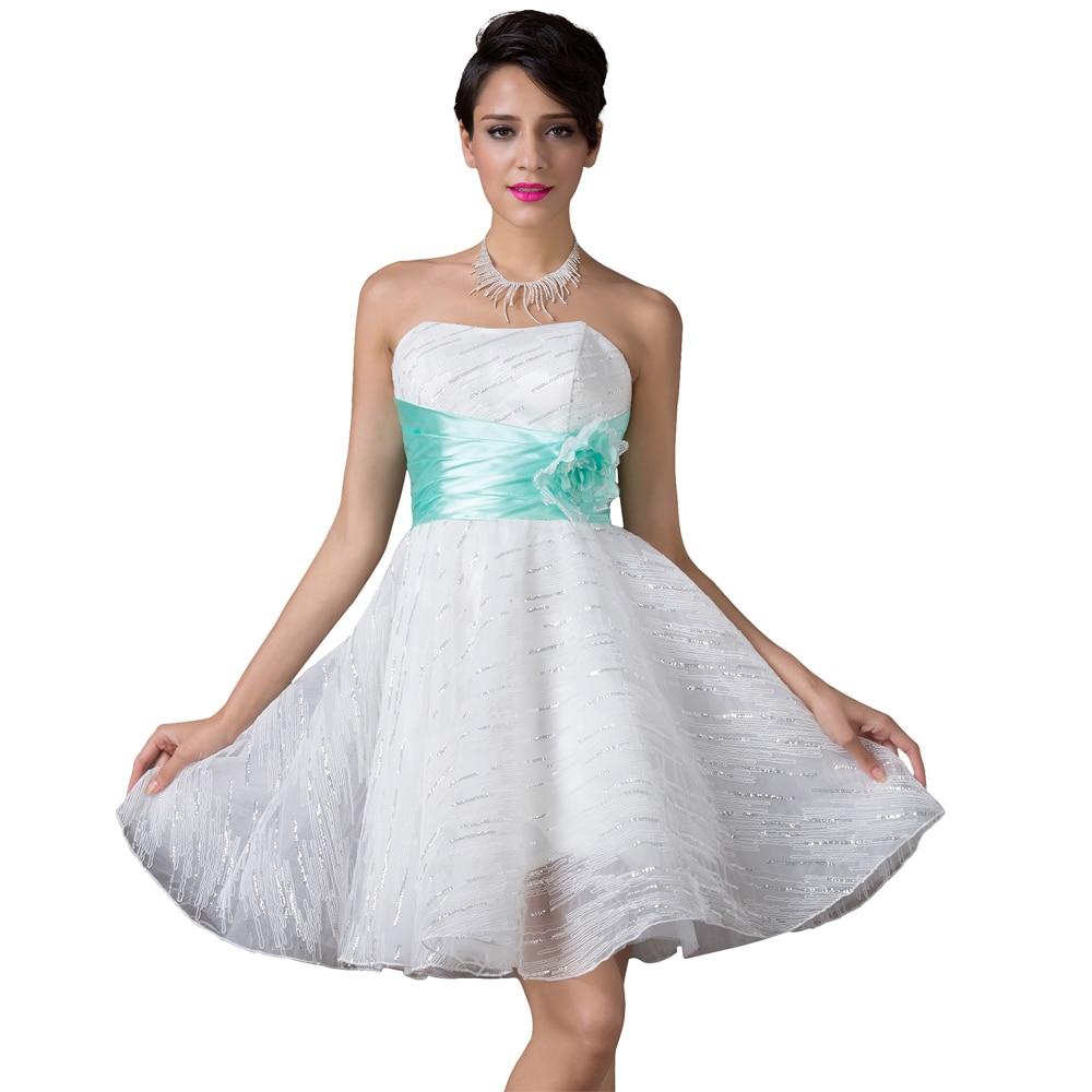 Sexy Strapless White Prom Dress Galajurken Short Formal