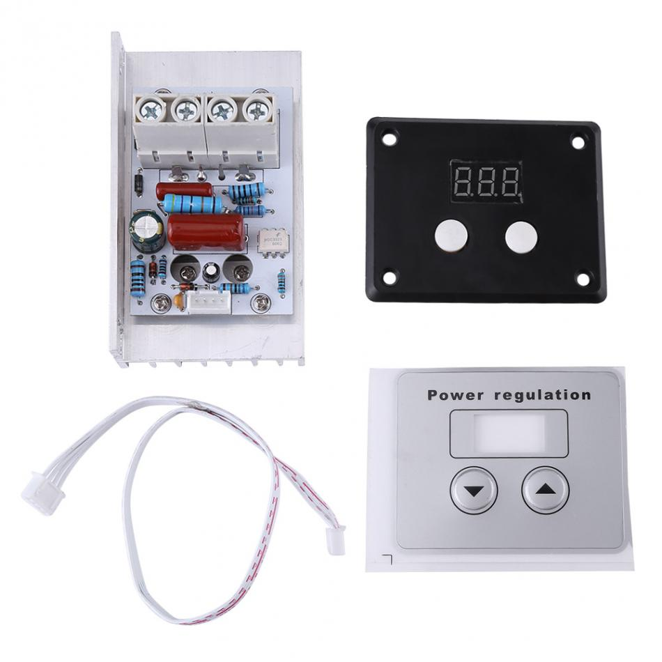 AC220V 10KW Electronic Digital SCR Super Power Regulator Dimmer Speed Thermostat