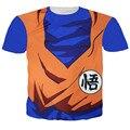 Lindo más nuevo Del Cabrito DBZ Goku camiseta 3D camisetas Hombres de Las Mujeres Casual tees Anime Dragon Ball Z Super Saiyan camisetas Harajuku tee camisas