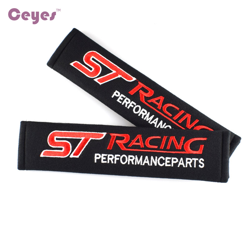 Image 2 - Ceyes Car Styling Protect Shoulders Pads Case For Ford ST Racing Focus 2 3 Auto Cover Stickers Accessories Car Styling 2pcs/lot-in Car Stickers from Automobiles & Motorcycles
