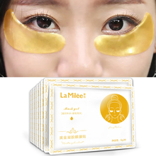 10packs=10pairs LAMILEE Gold Aquagel Collagen Eye Mask Ageless Sleep Mask Eye Patches Dark Circles Face Skin Care Whitening 2pcs pack collagen eye masks gold aquagel collagen eye mask ageless sleep mask eye patches dark circles