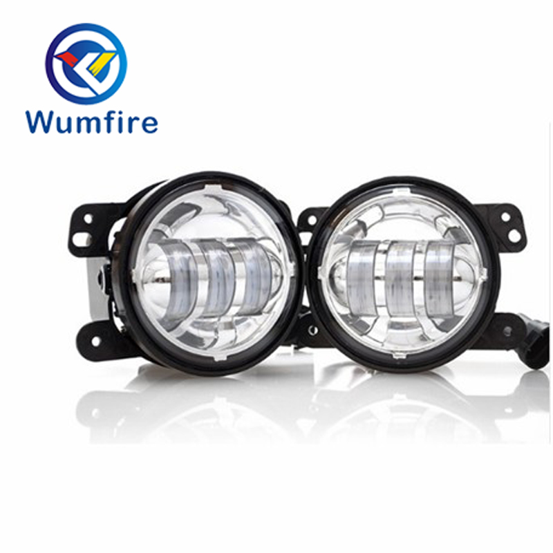Pair LED Fog Light Kit 30W 4 inch For 07~14 Jeep Wrangler JK Rubicon Sahara windshield pillar mount grab handles for jeep wrangler jk and jku unlimited solid mount grab textured steel bar front fits jeep