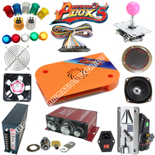 Jamma Arcade game kits with pandora box 4 645 in 1 board, Power Supply,Arcade joystick ,Arcade Buttons ,Speaker To Build Up DIY arcade parts bundles with pandora box 4s 815 in 1 arcade game board 16a power supply long shaft joystick buttons jamma harness