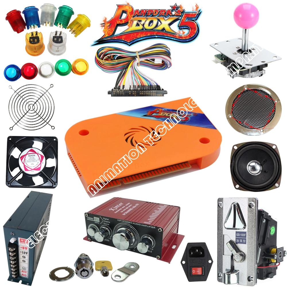 Jamma Arcade game kits with pandora box 5 960 in 1 board, Power Supply,Arcade joystick ,Arcade Buttons ,Speaker To Build Up DIY