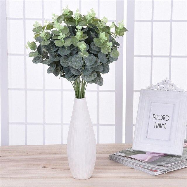 Très 2 bouquet diy artificielle eucalyptus feuille plante verte  PT04