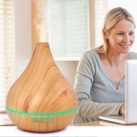 400Ml Aroma Air Diffuser Wood Ultrasonic Air Humidifier Essential Oil Aromatherapy Cool Mist Maker For Home Au Plug