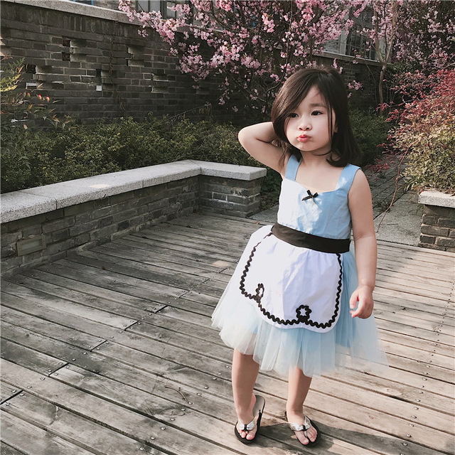 1e55e894934 2018 New Arrival Baby Girl Alice in Wonderland Princess Tutu Dress  Sleeveless Summer Clothes Christmas Gift Holiday Outwear