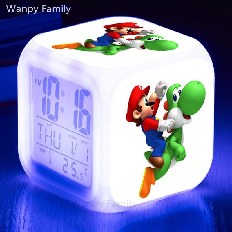 Coloring for Kids kids color changing alarm clock : Super mario bros Digital Alarm Clocks,3D Games Super Mario Alarm ...